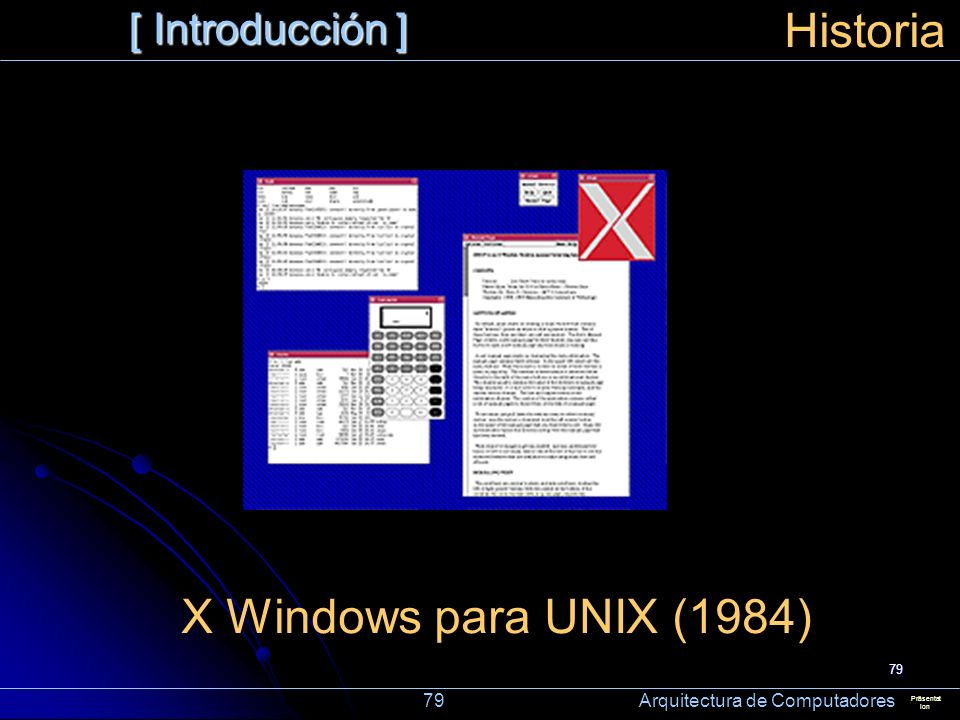 Historia X Windows para UNIX (1984) [ Introducción ]